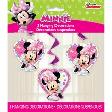 "26"" Hanging Minnie Mouse Decorations, 3ct, Packaging"