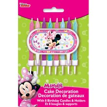 Minnie Mouse Cake Topper and Birthday Candle Set