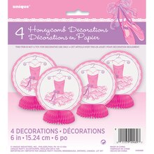 "Mini 6"" Tutu Ballerina Centerpiece Decorations, 4ct"