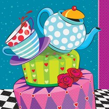 Mad Hatter Tea Party Luncheon Napkins, 16ct
