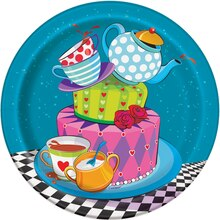 """7"""" Mad Hatter Tea Party Plates, 8ct"""