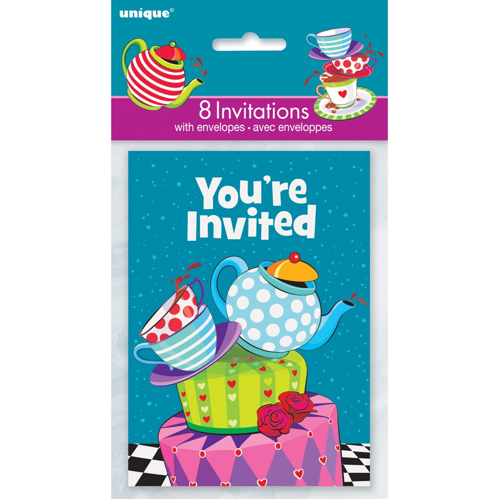 Mad Hatter Tea Party Invites | Alice in Wonderland Party Supplies
