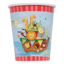9oz Noah's Ark Baby Shower Paper Cups, 8ct