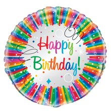 Foil Rainbow Birthday Party Balloon, 18""