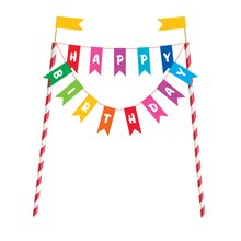 Rainbow Birthday Cake Bunting