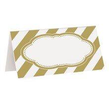 Golden Birthday Place Cards, 16ct