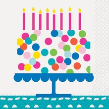 Confetti Cake Birthday Beverage Napkins, 16ct