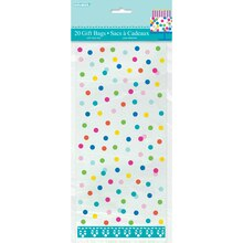 Confetti Cake Birthday Cellophane Bags, 20ct