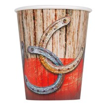 9oz Rodeo Western Paper Cups, 8ct