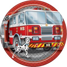 "9"" Fire Truck Birthday Party Plates, 8ct"