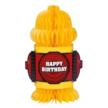Fire Hydrant Shaped Fire Truck Birthday Party Decoration, 10""