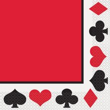 Casino Theme Party Luncheon Napkins, 16ct