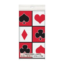 "Plastic Casino Theme Party Tablecloth, 84"" x 54"""