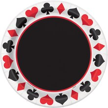 "9"" Casino Theme Party Plates, 8ct"
