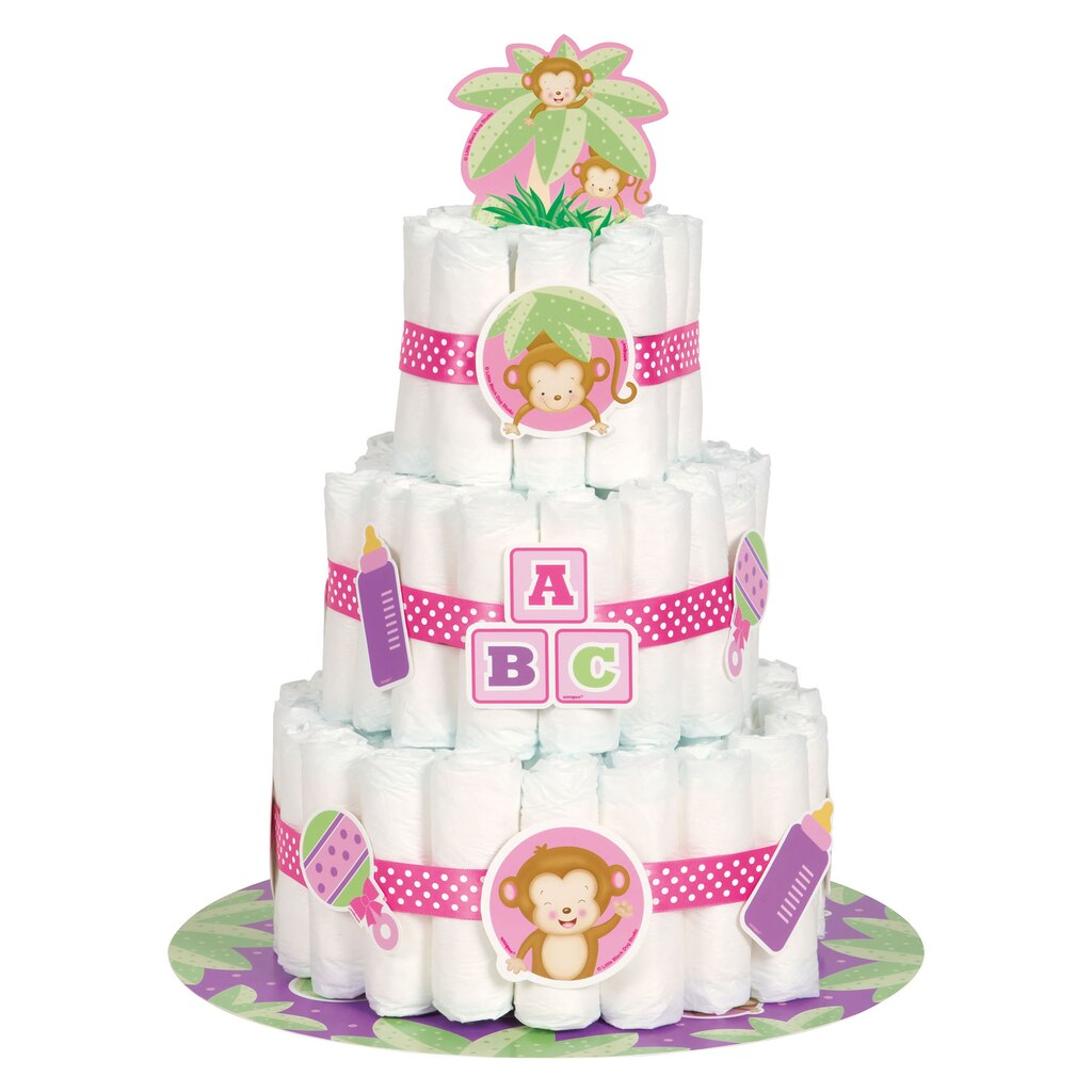 Baby Girl Diaper Cake Kit