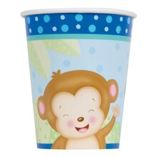 9oz Boy Monkey Baby Shower Paper Cups, 8ct
