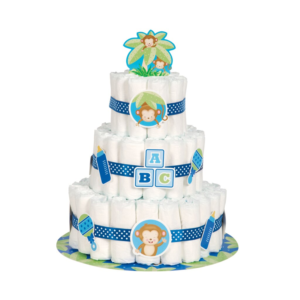 How To Make A Diaper Cake For Boy Baby Shower