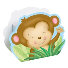 Boy Monkey Baby Shower Favor Boxes, 8ct