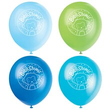"12"" Latex Boy Monkey Baby Shower Balloons, 8ct"