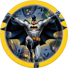 "7"" Batman Party Plates, 8ct"