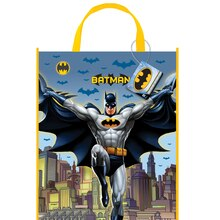 "Large Plastic Batman Favor Bag, 13"" x 11"""