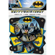 Batman Birthday Banner, 6 Ft., Packaging