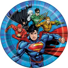 "7"" Justice League Party Plates, 8ct"