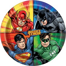 "9"" Justice League Party Plates, 8ct"