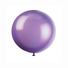 "36"" Giant Latex Midnight Purple Balloons, 6ct"