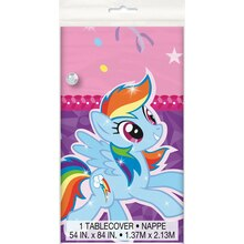 "Plastic My Little Pony Tablecloth, 84"" x 54"""
