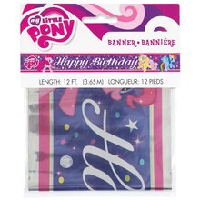 Foil My Little Pony Birthday Banner, Packaging