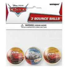 Disney Cars Bouncy Ball Party Favors, 3ct