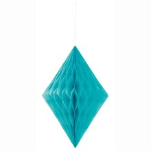 Teal Diamond Tissue Paper Decoration, 14""