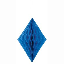 Royal Blue Diamond Tissue Paper Decoration, 14""