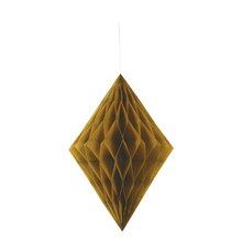 Gold Diamond Tissue Paper Decoration, 14""
