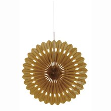 Gold Tissue Paper Fan Decoration, 16""