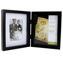 "Studio DéŽcor Double-Hinged Shadowbox, Black, 8"" x 10"""