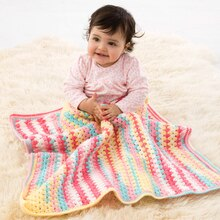 Lion Brand® Ice Cream Suffolk Baby Crochet Afghan, medium