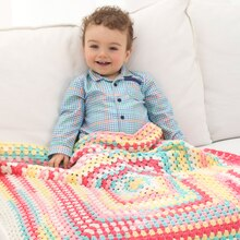 Lion Brand® Ice Cream Tutti Frutti Baby Crochet Afghan, medium