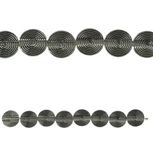 Bead Gallery Flat Lentil Metal Beads, Silver Plated