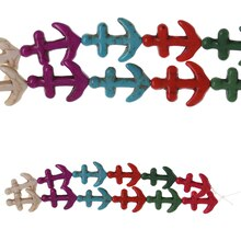 Bead Gallery Reconstituted Stone Anchor Beads, Multicolor