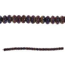 Bead Gallery Resin Rondelle Beads, Purple Iris