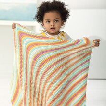 Lion Brand® Ice Cream Kerry Baby Knit Afghan, medium