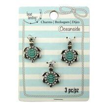 Oceanside Turquoise Turtle Charms by Bead Landing