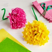 Kids Club® Paper Flowers, medium