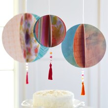 Circle Paper Ball Hanging Decorations, medium