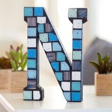 Make Market™ Mosaic Chunky Wood Letter, medium