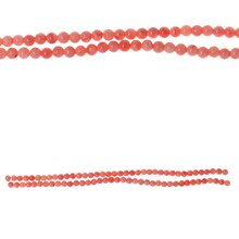 Bead Gallery Dyed Coral Sponge Beads, Pink