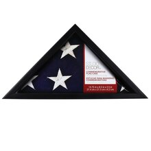 Black Commemorative Flag Case by Studio Décor
