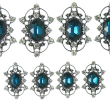 Bead Gallery Oval Metal Slider Beads, Aqua